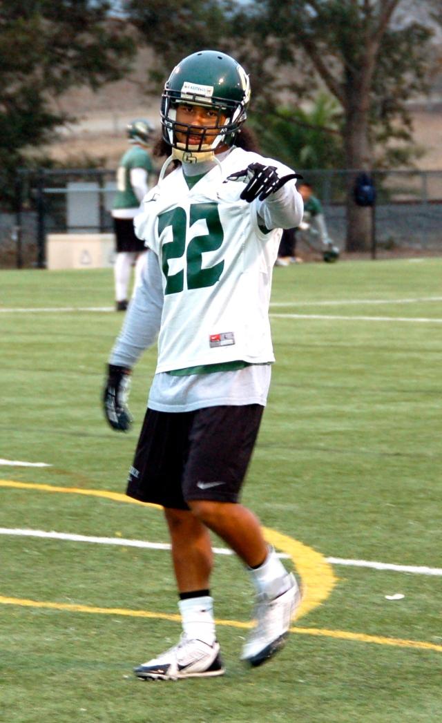 Senior defensive back, Alex Hubbard