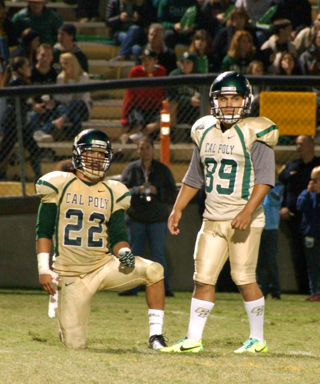 Holder Alex Hubbard and placekicker, Bobby Zalud