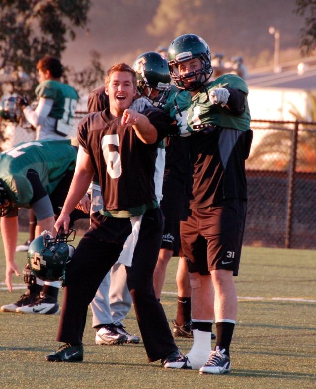 Quarterback Kenny Johnston and fullback Brandon Howe