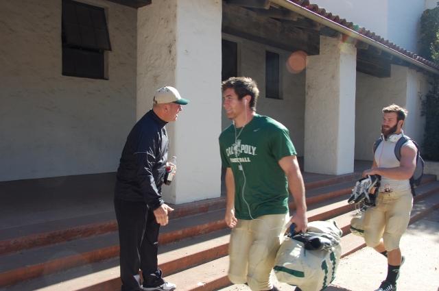Coach Walsh and captain Johnny Millard