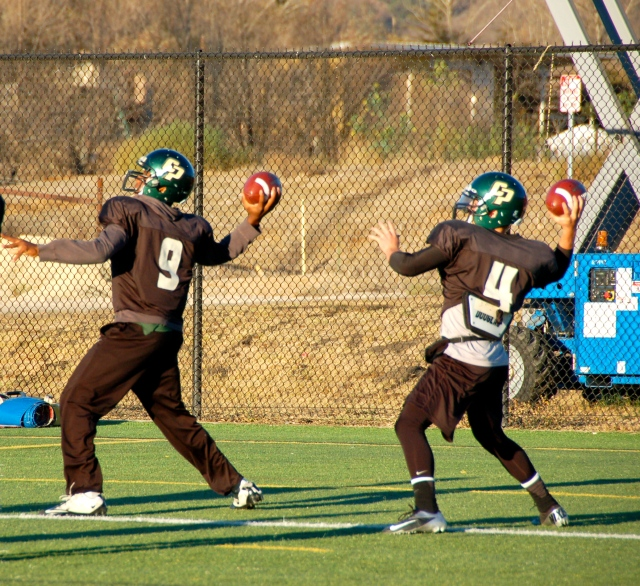 Quarterbacks Chris Brown and Dano Graves