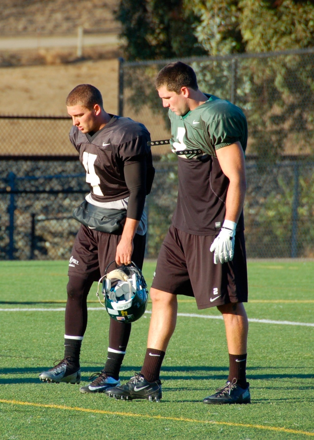 Quarterback Dano Graves and slotback Cole Stanford