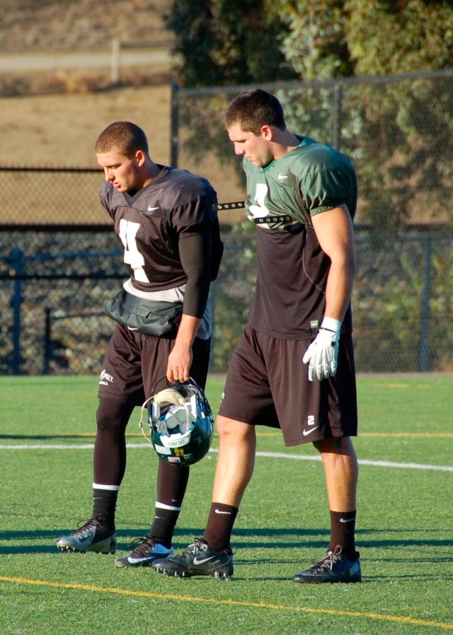 Quarterback Dano Graves and slotback Cole Stanford