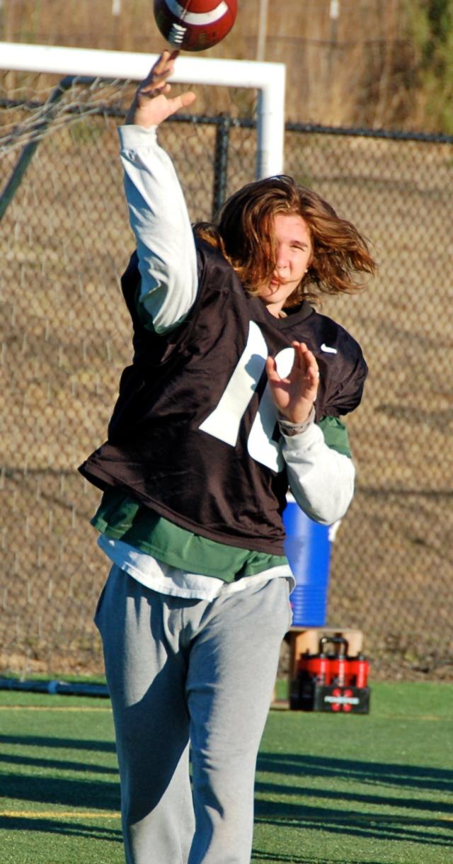 Freshman quarterback Tanner Trosin