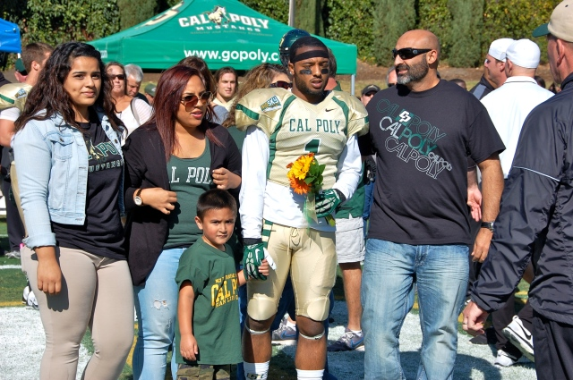 Senior defensive back, Bijon Samoodi and his family