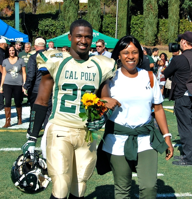 Senior defensive back, Vante Smith-Johnson and his mother
