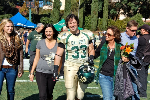 Senior defensive lineman Kyle Maddux and his family
