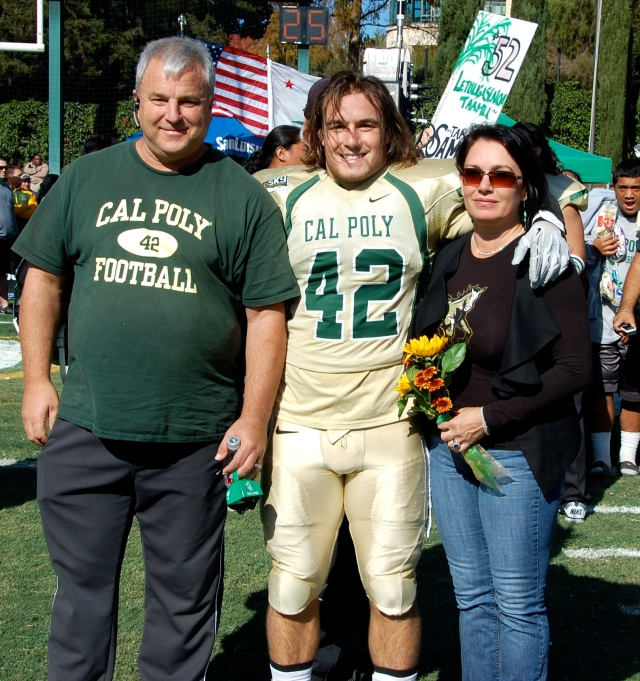 Senior fullback Matt Rulon and his family