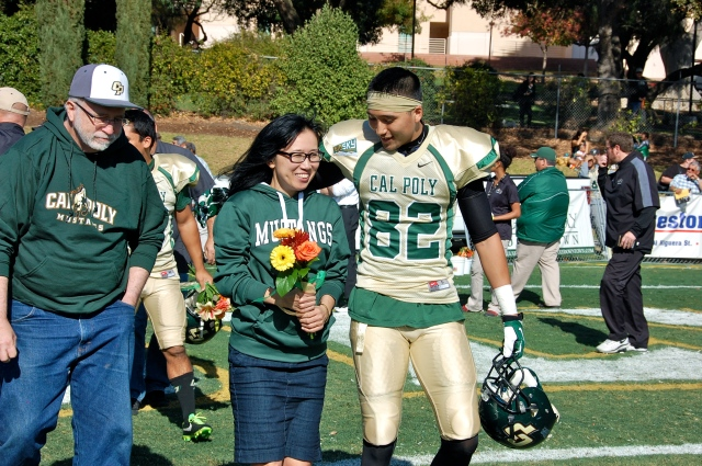 Senior wide receiver Nathanael Petrey and his family
