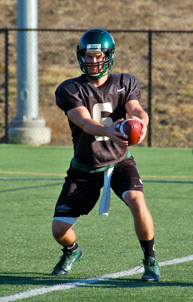 Senior quarterback Kenny Johnston