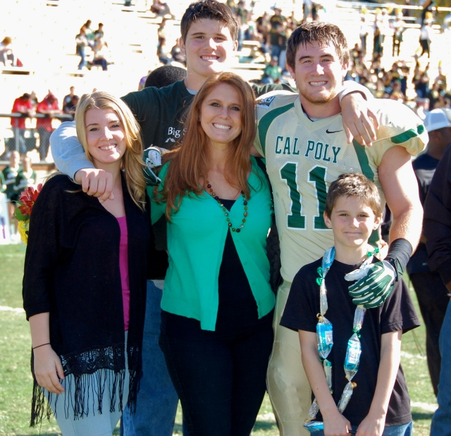 Senior captain and linebacker Johnny Millard with a small part of his family