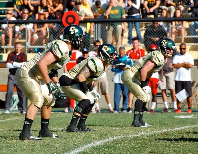 Cal Poly's incredible linebacking corp of Cam Ontko, Nick Dzubnar, and Johnny Millard