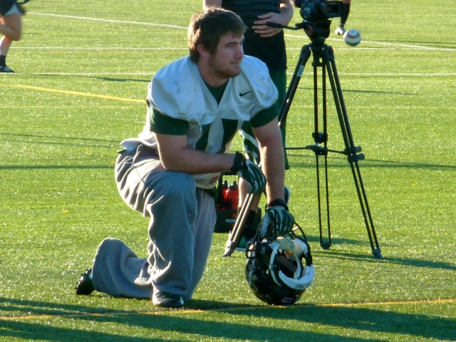 Senior captain and linebacker Johnny Millard